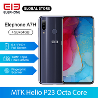 """ELEPHONE A7H Helio P23 Octa Core 4GB 64GB Mobile Phone 6.4"""" Full Screen Android 9.0 3900mAh Fast Charging Fingerprint Cellphone