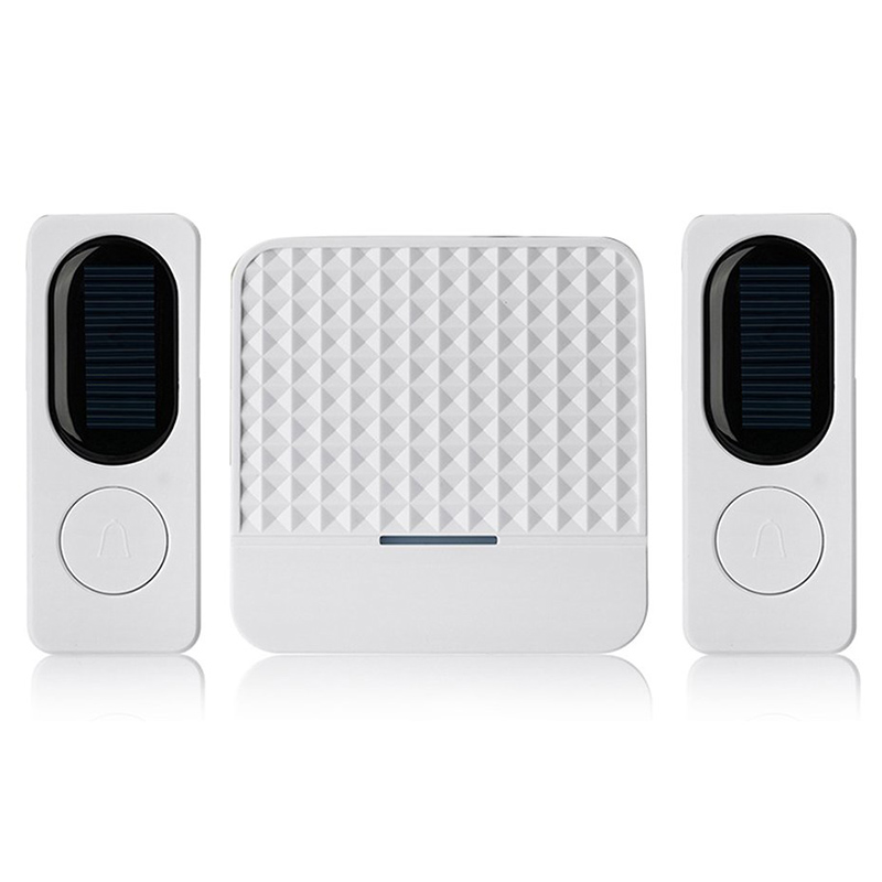 Waterproof Solar Powered Wireless Doorbell Alert System 300M Range 52 Chimes Electric Doorbell With Led Light EU Plug