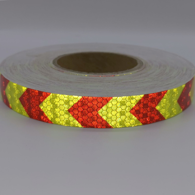 PET Bike Body Reflective Stickers Reflective Safety Warning Conspicuity Reflective Tape Film Sticker Light Bar Bicycle Access
