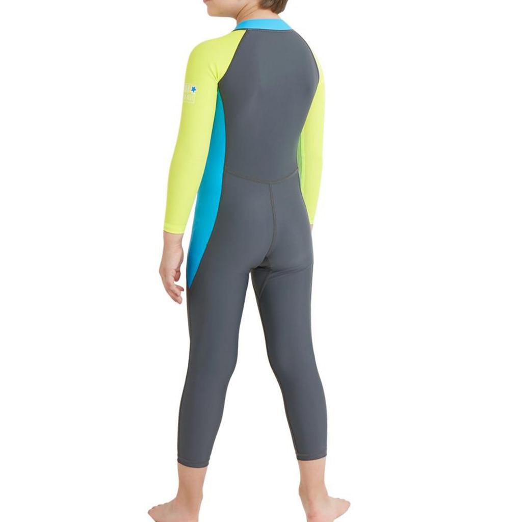 Kids Long Sleeve Wetsuit Beach Scuba Diving Snorkeling Full Body Swimwear Swimsuit
