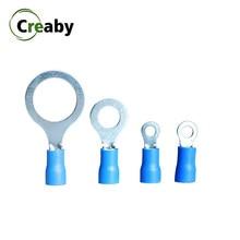 10/25/50/100 pces rv2 1.5-2.5mm anel isolado friso terminais talões conector de fio cabo elétrico fio conectores 16-14 awg kit