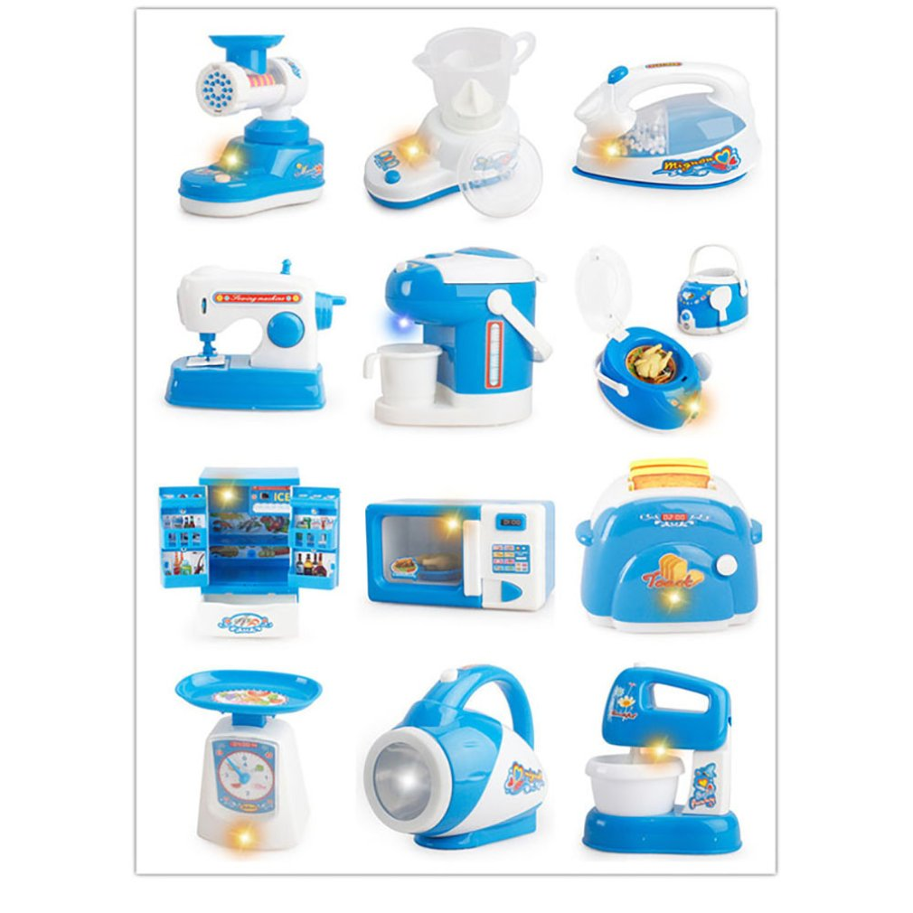 Hot Plastic Simulation Role Pretend Play Electric Iron Kitchen Appliance Puzzle Kids Fashion Kitchen Toys Furniture Toys Gift