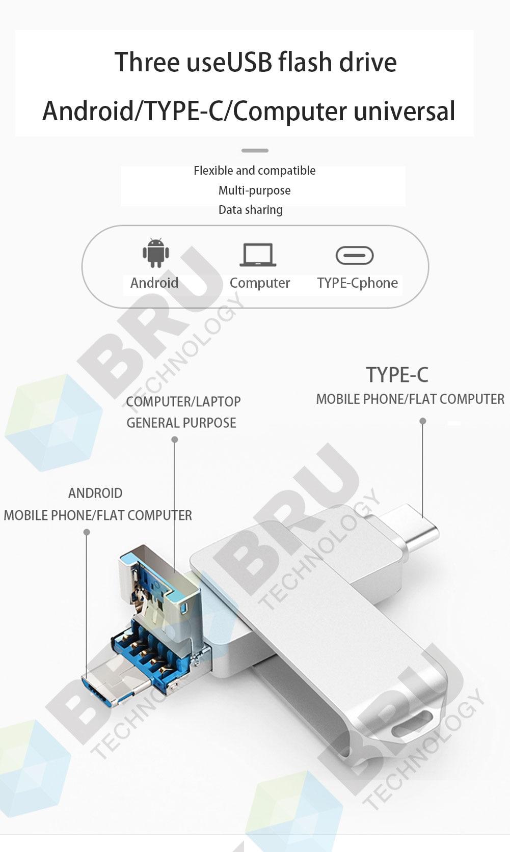 Clé USB Flash Drive 3.0 For Android, Tablette et Ordinateur