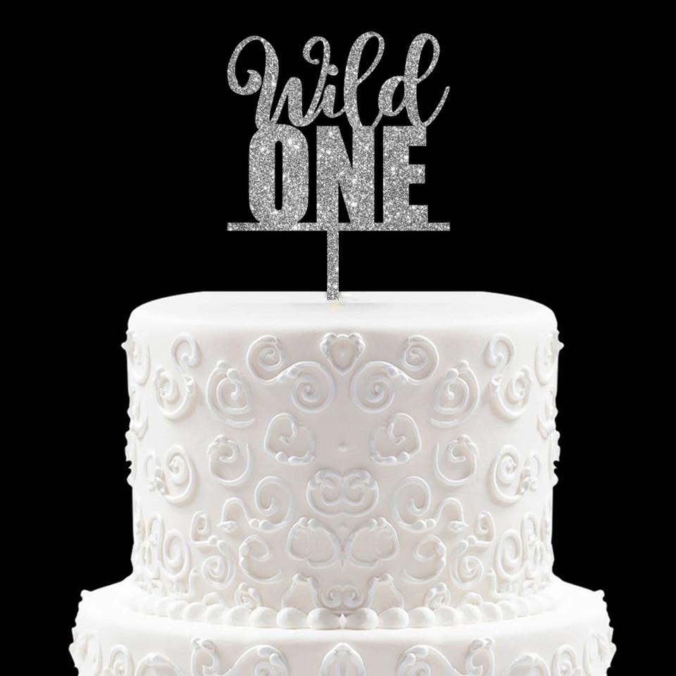 Amazing Wild One Birthday Cake Topper Baby First 1St Birthday Cake Topper Funny Birthday Cards Online Necthendildamsfinfo