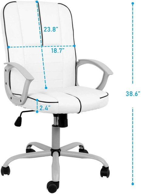 office executive chair ergonomic Leather computer game Chair Internet chair for cafe household chair White 4