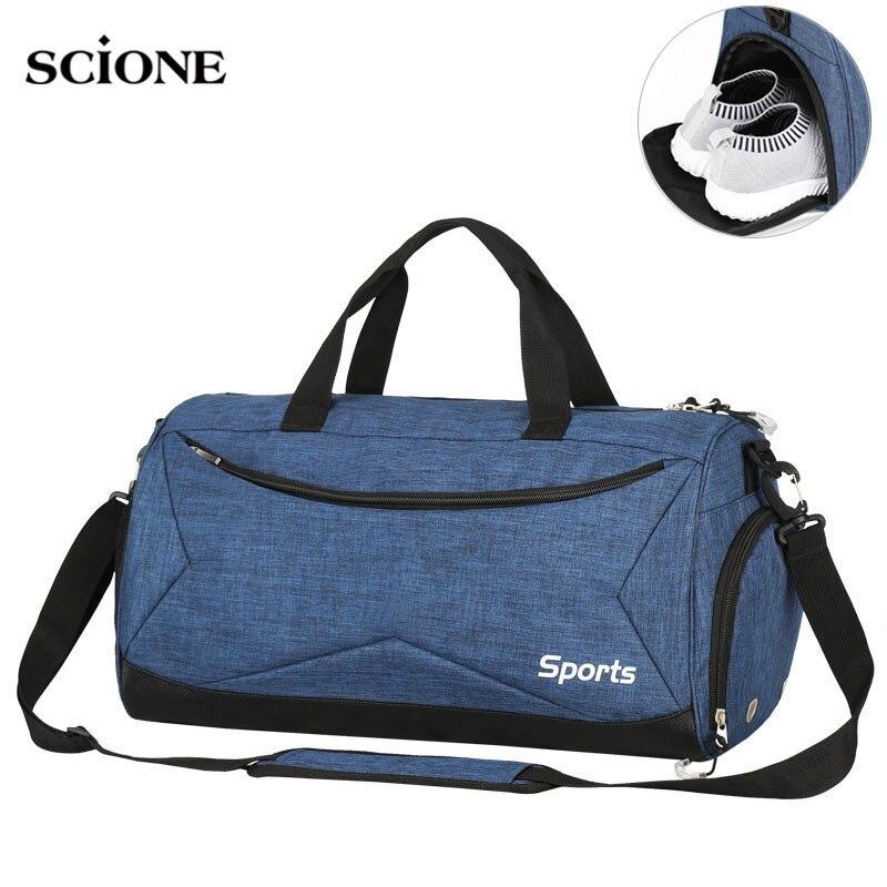 Dry Wet Swimming Gym Bags Sac De Sport Handbags Gymtas Yoga Mat Bag For Men Fitness Training Sports Tas Travel Outdoor XA617WA