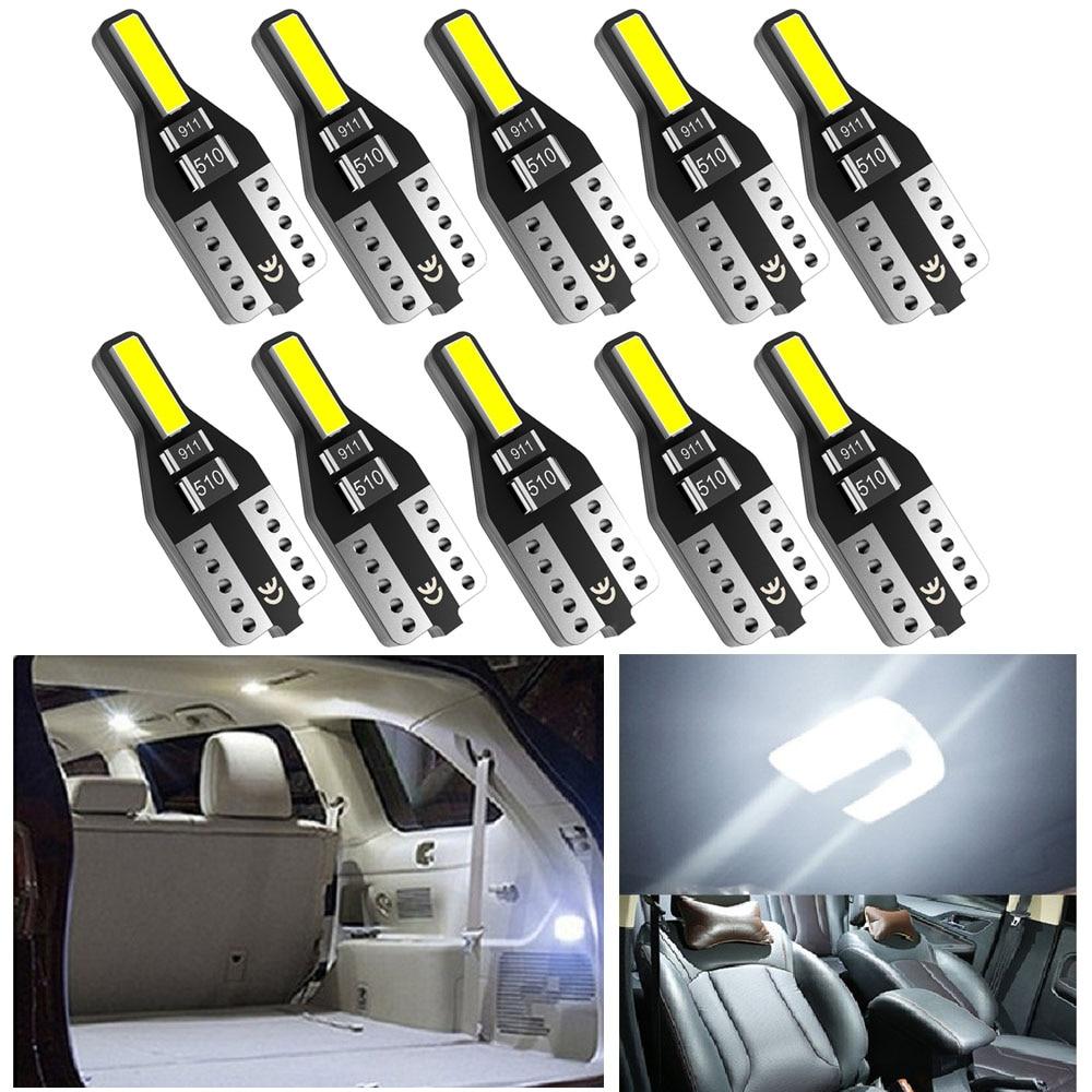 Ampoule LED 10x W5W T10 pour Alfa Romeo 159 147 156 164 Giulietta Mito Giulia GT Stelvio 2017, éclairage intérieur de voiture, lampe de lecture