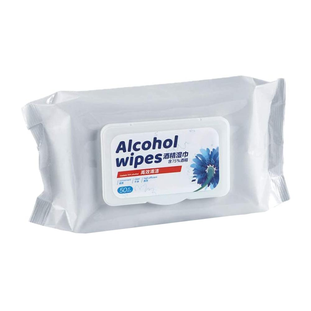 New Alcohol Wet Wipes 50Pcs/Bag Disposable Sterilization Disinfection Cleansing Alcohol Napkin Tissue