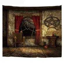 Пентаграмма гобелен домашний декор одеяло настенный винтажный