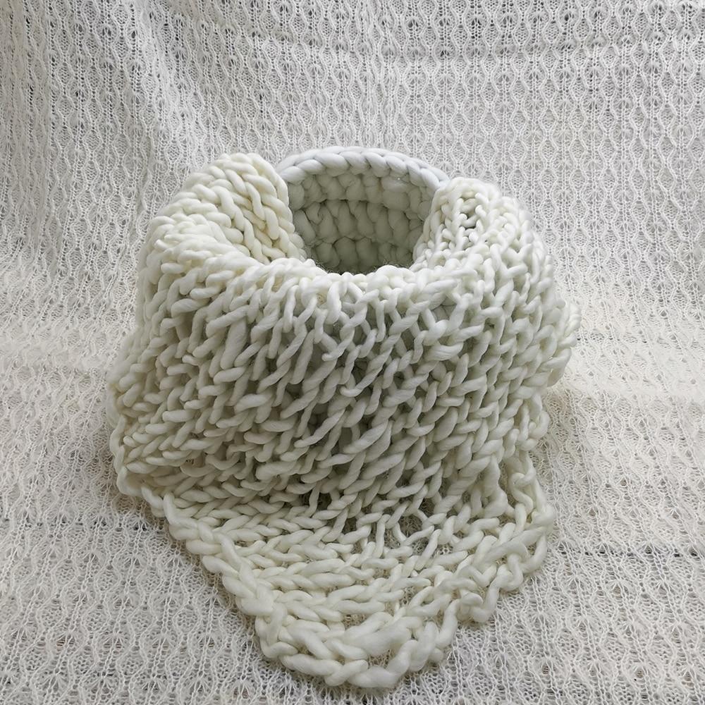 150x100cm Baby Posing Layer Backdrop Blanket+  Knitted Braid Stuffer Shape Basket+100% Wool Blanket For Newborn Photography Prop