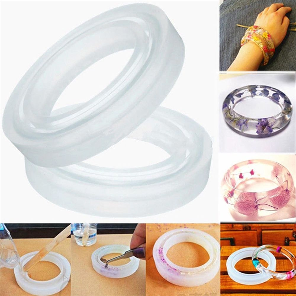 1X Silicone Bracelet Mould Mold For Resin Curve Bangle DIY Jewelry Making New Arrival 2020