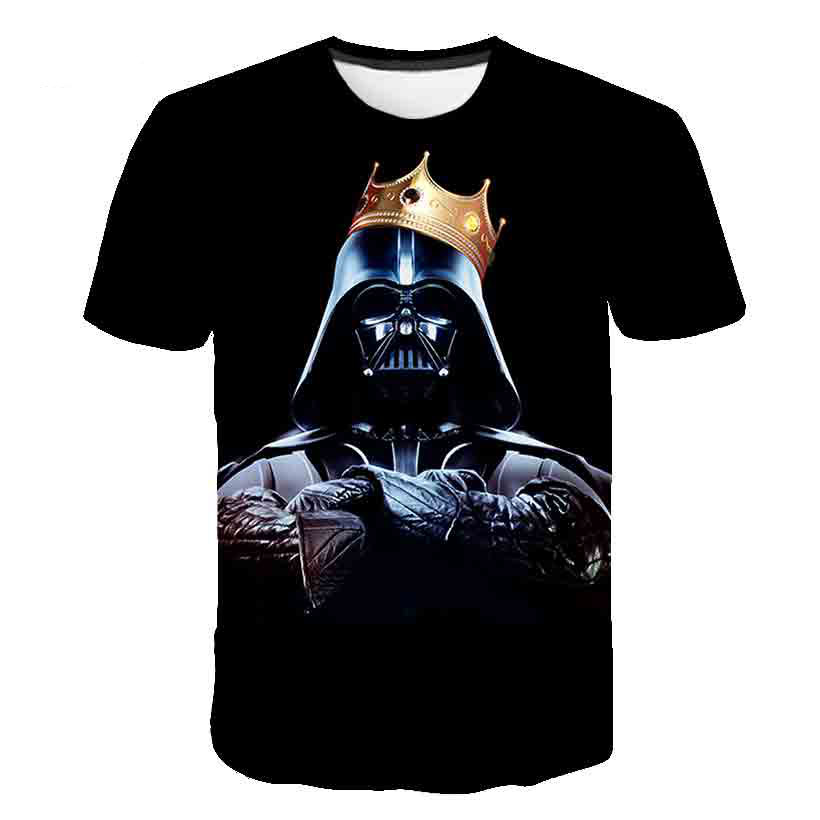 2019 Novelty T Shirt New Star Wars Kids Boys T-shirt Cartoon Harajuku Adult Darth Vader Comfort Fashion Hiphop Saucer Man Top