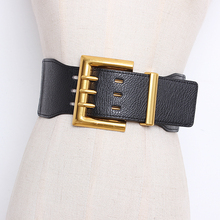 High Quality Vintage Big Alloy Buackle Wide Waistbands Luxur