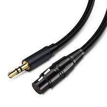 Canon – câble Audio XLR femelle vers Jack 3.5 mâle, connecteur Aux plaqué or pour Instrument, mélangeur de guitare, amplificateur de basse 1m 2m 3m 5m