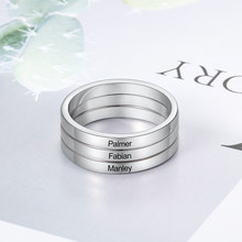 925 Sterling Silver Stackable Engagement Promise Rings Engraved Names Rings For Women Men Wedding Bands Anniversary Jewelry Gift(China)