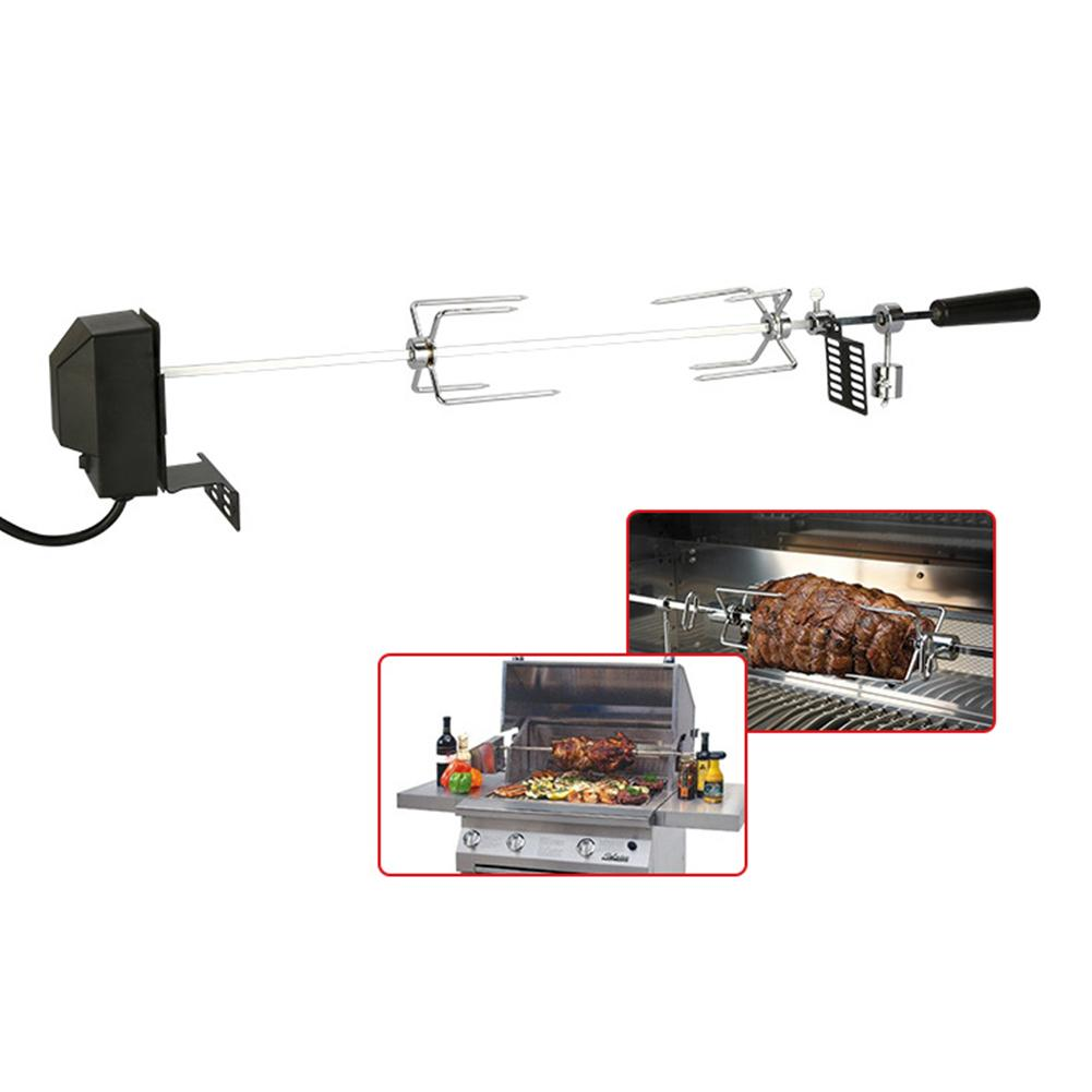 Automatic BBQ Grill Rotisserie Electric BBQ Motor Metal Outdoor Spit Roaster Rod Charcoal Pig Chicken Beef Camping Picnic Tools