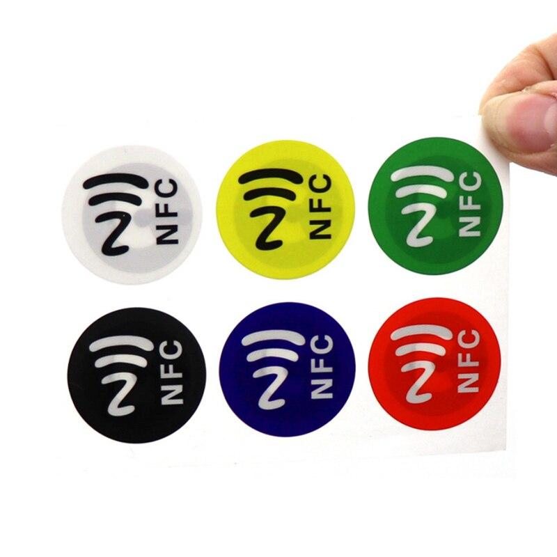 (6 шт./лот) NFC-метки, наклейки NTAG213 NFC-метки, клейкая этикетка, наклейка, универсальная этикетка Ntag 213 RFID-метка для всех NFC-телефонов