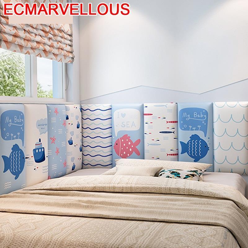 Board Cabezal Testata Letto Polipiel Cabezero Cojin Kid 3D Wall Sticker Bed Tete Lit Pared Cabeceira Cabecero De Cama Headboard