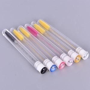 1 Pcs Good Quality Fashion Reusable Eyebrow Brush Tube Disposable Eyelash Brush Eyebrow Dust-Proof Tube