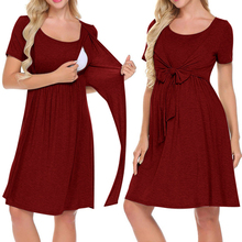 Pregnancy Pajamas Sleepwear Pregnant Women Pajamas Nightdress Breastfeeding Nightgown Nightwear Elegant Maternity Nursing Dress