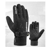 ROCKBROSWinter Cycling Glove Full Finger Anti slip Windproof Fleece Thermal Warm Silica Gel Long Bicycle Touch Screen Gloves