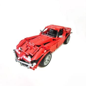 цена на Sports Car Series Building Blocks Compatible MOC-1757 Corvette C3 Stingray Technic Bricks Fit lepining Diy Toy Christmas Gift