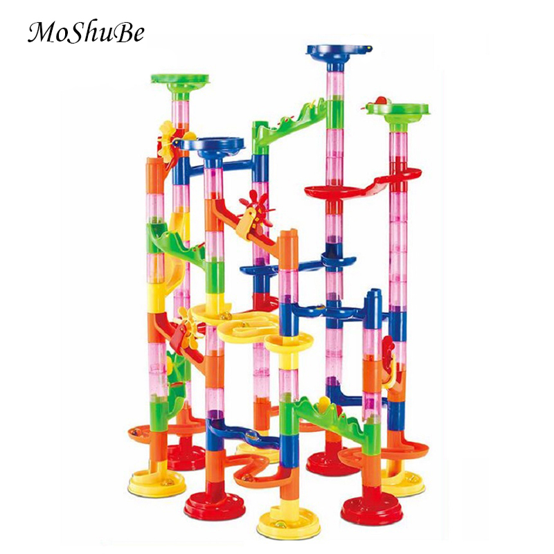 105pcs DIY Marble Race Run Maze Building Blocks Tower Game Child Kids Toys Gifts