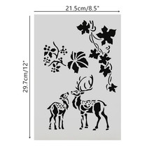 A4 Size DIY Craft Elkdeer Pattern Stencils Template For Wall Painting Scrapbooking Stamping Photo Album Decor