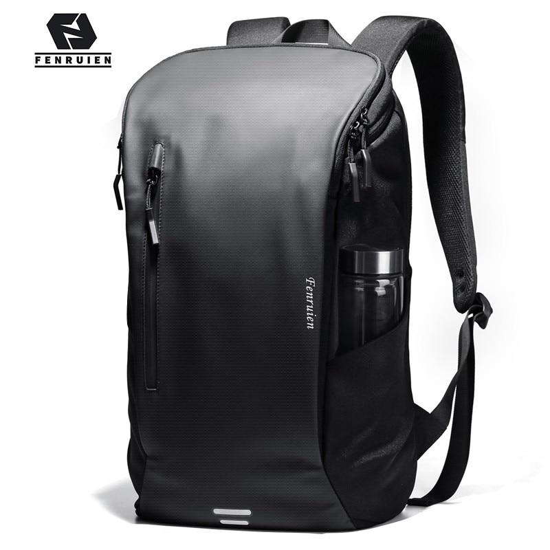 Fenruien Men Backpack Multifunctional Waterproof 15.6 Inch Laptop Backpacks Fashion Outdoor Sport School Travel Bag Backpack