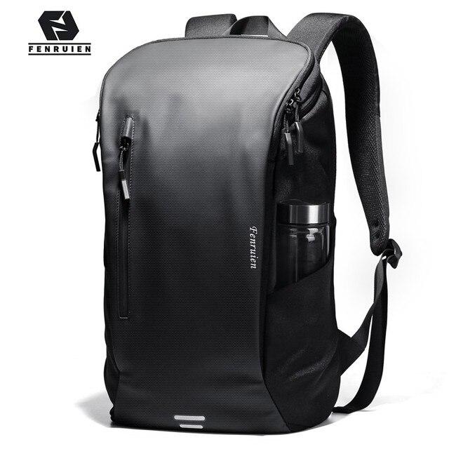 Fenruien Men Backpack Multifunctional Waterproof 15.6 Inch Laptop Backpacks USB Charge Outdoor Sport School Travel Bag Backpack