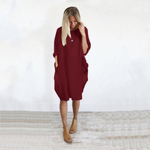 Pregnancy Dress Summer O-Neck Casual Ladies Large Size Dress Casual Loose Pocket Women Summer Dress Plus Size Maternity Clothes 2018 winter elegant dress loose maternity dress casual pregnancy dress dot plus size dress ruffles pockets