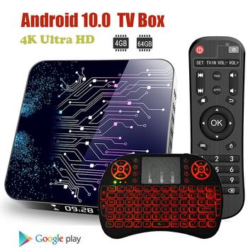 Vmade 4K Ultra HD Android 10 TV Box RK3318 4G 64G WiFi Set Top Box TV Receiver Support IPTV YouTube Media Player Google Store недорого