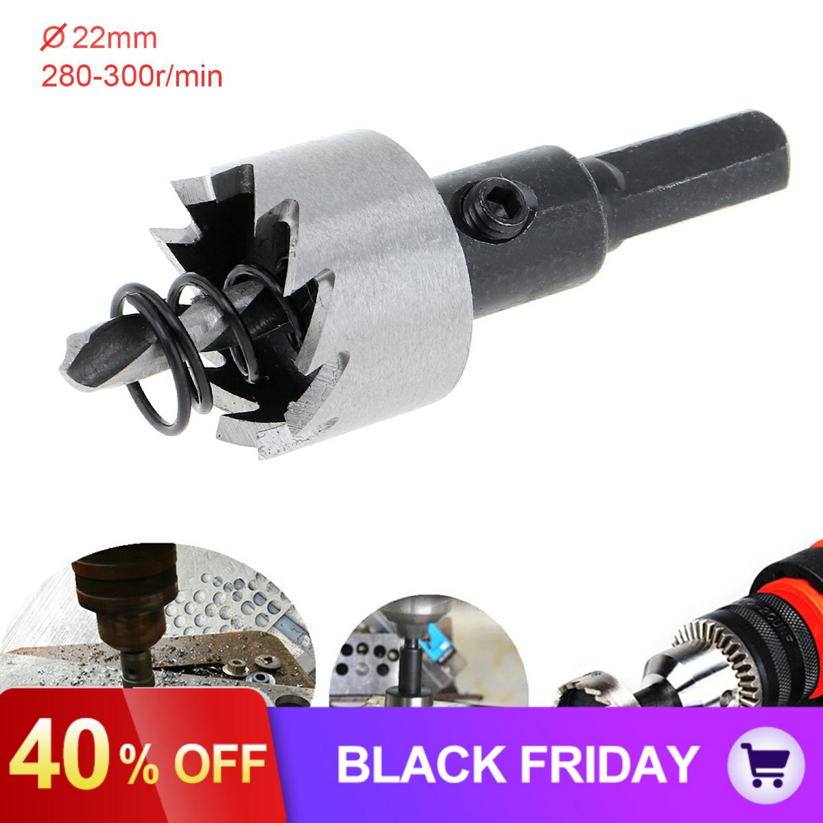 22mm/HSS Hole Saw Cutter Drill Bits For Pistol Drills/Bench Drills/Magnetic Drills/Air Gun Drills