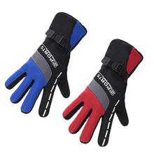 Cycling Ski Gloves Long Mens Stitching Printing Reflective Warm Against Cold Anti-Skid Riding Touchable