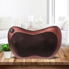 Electric Massage Pillow Lumbar Neck Back Shiatsu Massager Cushion Heat Car Home EU Plug цена 2017