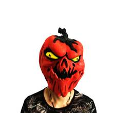 Creepy Halloween Mask Pumpkin Skull Skeleton Face Latex Cosplay Costume Props Novelty Full Head