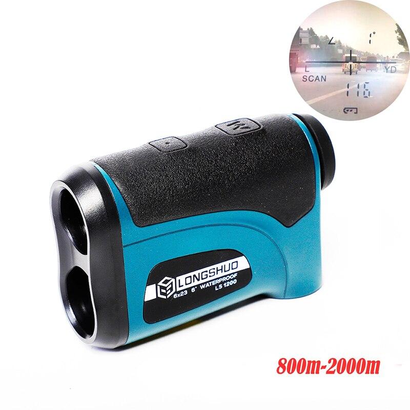 longshuo ls1200 Laser Hunting Rangefinder 800M-2000M Laser Distance Meter for Golf Hunting telescope rangefinder 1