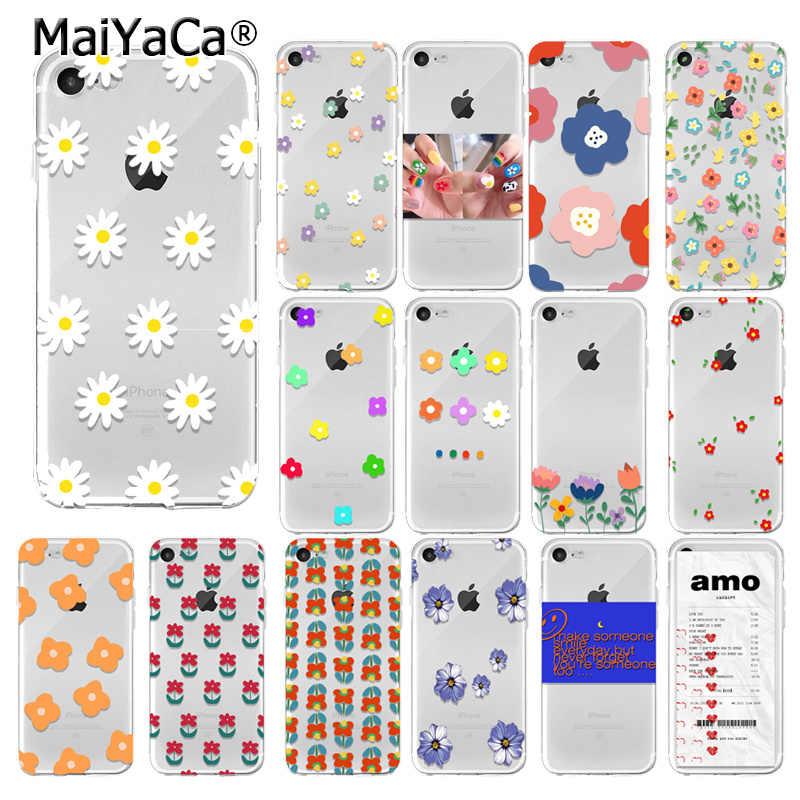 Yinuoda Mùa Hè nhỏ hoa cúc Ốp Lưng Điện Thoại Cho Iphone X XR XS Max 7 8 6 6 S Plus 5 5S SE hoa Mùa Hè Mềm TPU Ốp Lưng Silicone