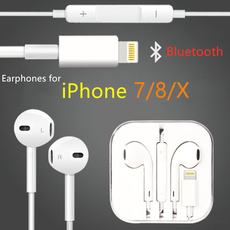 Bluetooth Earphones Wire Hybrid Stereo In-Ear Earphone Earpieces With Mic Wire Control For IPhone 6 6S Plus 5S SE Phone Earset