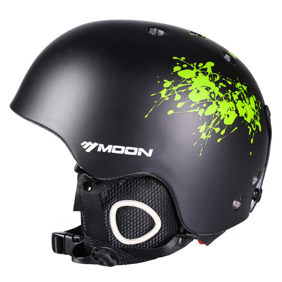 Горноложный шлем MOON, распродажа, горнолыжный литой шлем, подходит для катания на сноуборде, лыжах, скейтборде, для взрослых