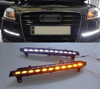 For 2007 2008 2009 2010 2011 Audi Q7 22 LED Direct Fit LED Daytime Running Lights w/Turn Signal Auto parts