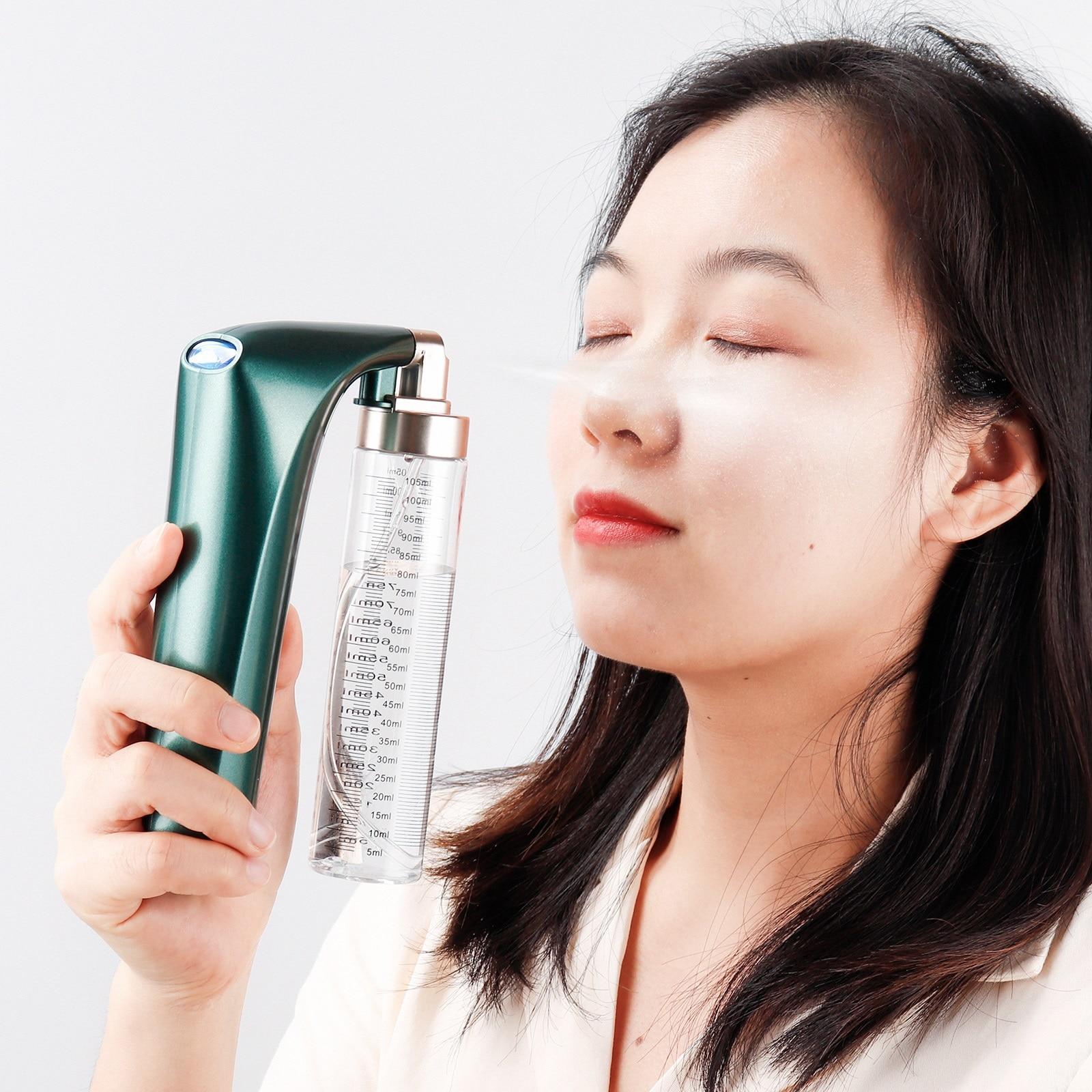 100ML Airbrush Nano Fog Mist Sprayer Skin Moisturizeing Sprayer Air Compressor Spray Gun Make Up Mask Facial SPA Moisturize Skin