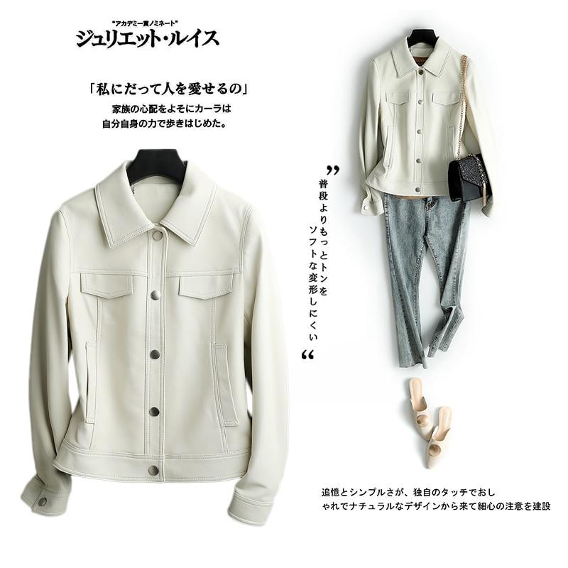 Leather Genuine Jacket Spring Autumn Jacket Women 100% Real Sheepskin Coat Female Korean Baseball Jackets Chaqueta Mujer S