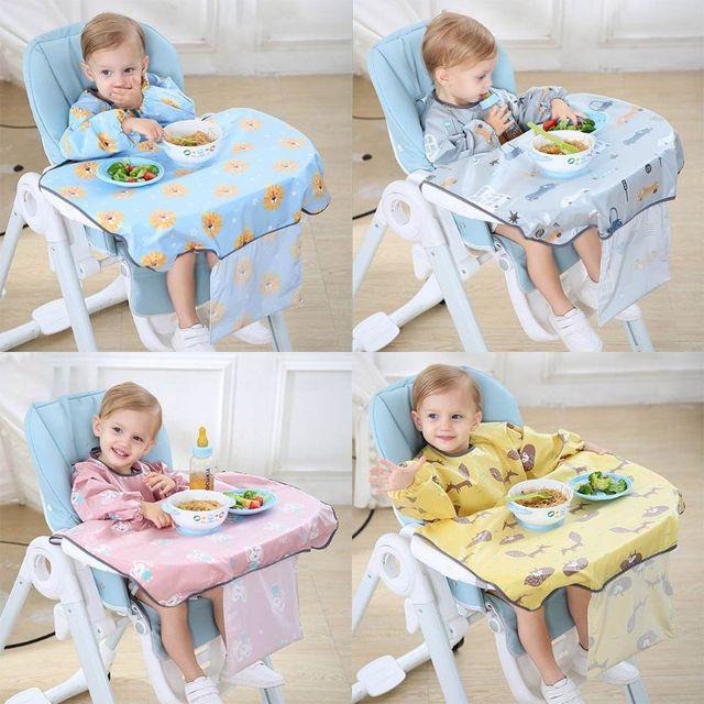 1 Pc Newborns Bib Table Cover Baby Dining Chair Gown Waterproof Saliva Towel Burp Apron Food Feeding Accessories