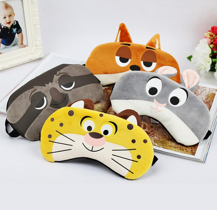 Bunny/Tiger/Fox/Sloth Sleeping Mask Rest Travel Relax Sleeping Aid Blindfold Ice Cover Eye Patch / By Dhl 200pcs SN269