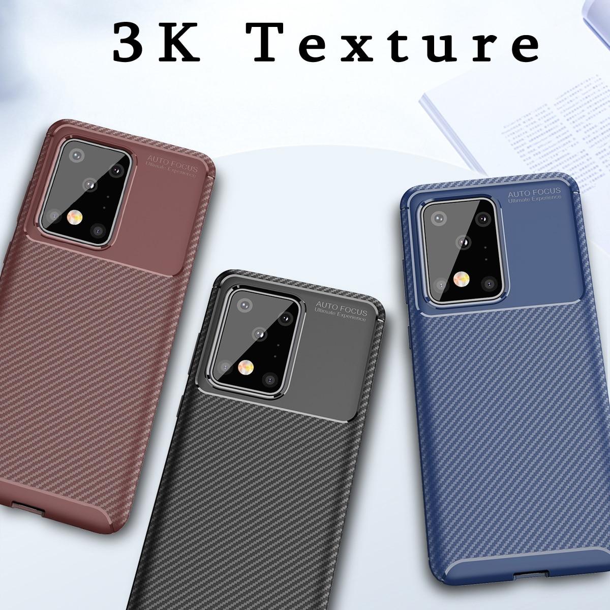 Чехол HATOLY для Samsung S20, Ультратонкий Мягкий ТПУ чехол-накладка из углеродного волокна для Samsung S20 Ultra S20 S20 + ^