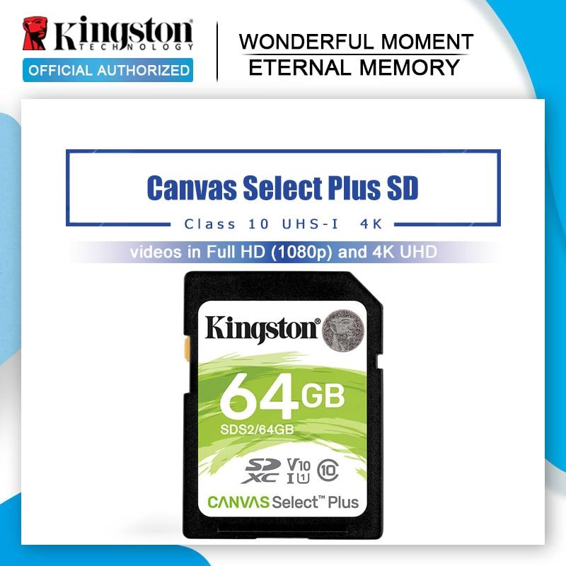 Kingston-tarjeta De Memoria SD Clase 10 SDXC para cámara Sony y Nikon, 64 GB, Original