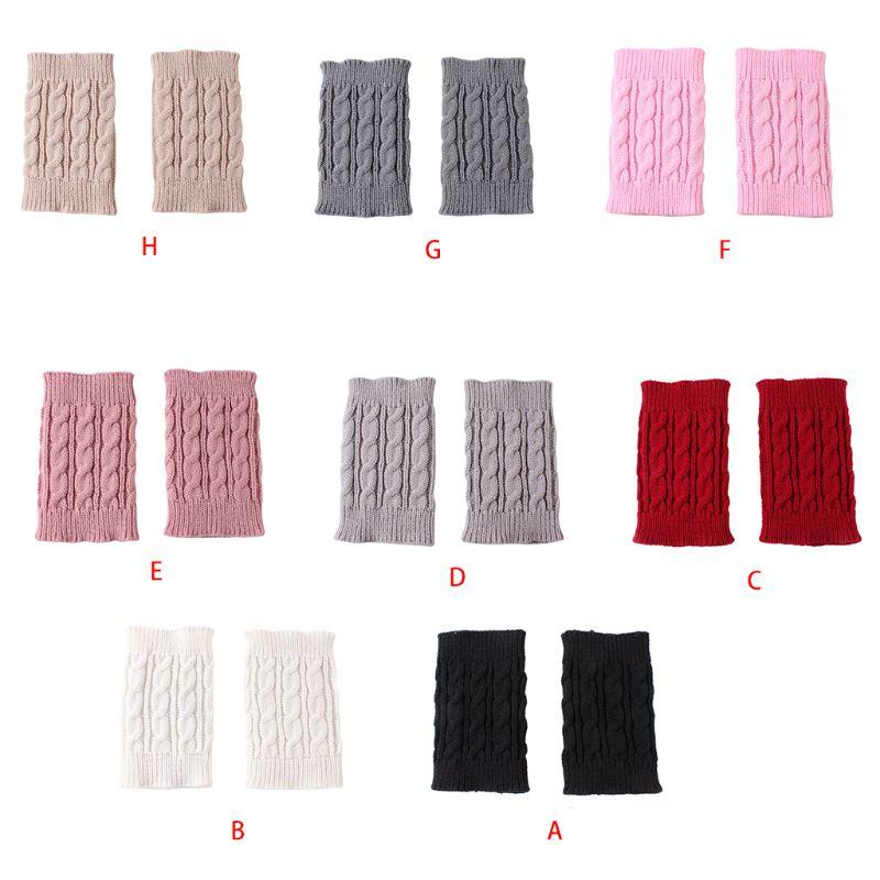1 Pair Women Girls Winter Autumn Cable Knitted Boot Cuffs Short Leg Warmer Socks 2XPC