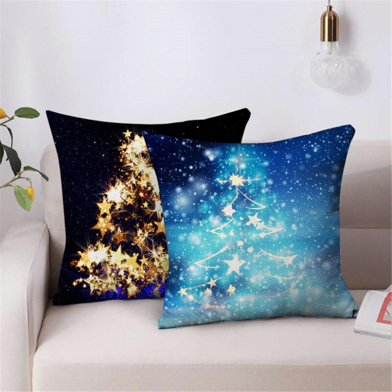 Nanacoba елка фото Рождественский Чехол на подушку подарок печать