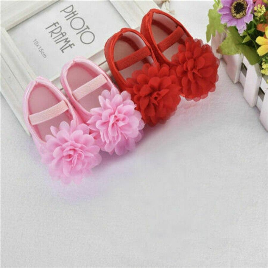 Newborn Infant Baby Girls Floral Soft Sole Crib Shoes Non-slip Sneaker Princess Shoes Prewalker First Walkers 0-18M